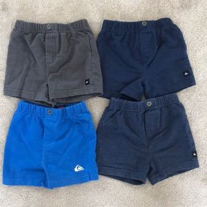 Four pair baby Quiksilver shorts.